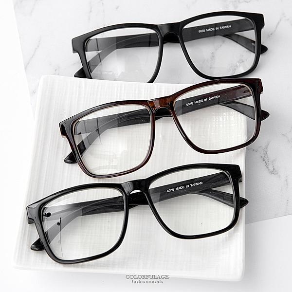 俐落大方形膠框平光眼鏡 日韓系文青風 中性百搭 【NY375】單支