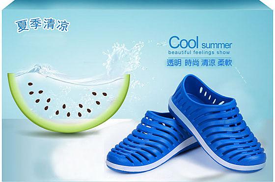 【JAR嚴選】透氣防滑洞洞晴雨兩用男女海灘鞋(女款)