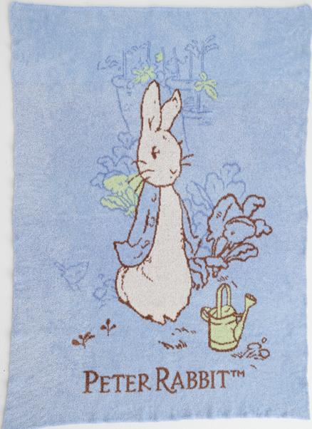 【淘氣寶寶*2019新款】奇哥 Peter Rabbit 比得兔雙層柔舒毯(藍) PLB98000B【精選彌月禮盒組】