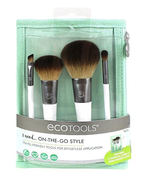 Ecotools On The Go Style Kit Makeup#1613 旅行刷具套裝 4件刷具+收納袋【愛來客 】
