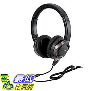 ELECOM HiRes頭罩式耳機 EHP-R/OH2000MBK 可折疊式 內藏麥克風 可通話