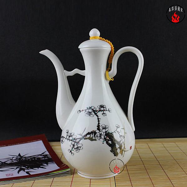 梅花 一斤裝陶瓷仿古溫燙分酒壺