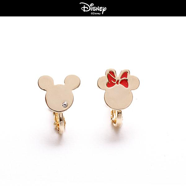 【迪士尼系列】簡約米奇米妮夾式耳環~夏綠蒂didi-shop
