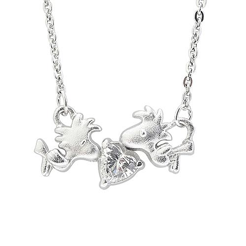 史努比SNOOPY-歡樂胡士托-銀飾項鍊(鎖骨鍊)