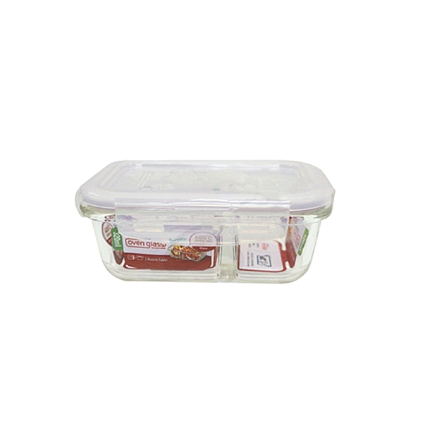 樂扣樂扣耐熱分隔玻璃保鮮盒長方形320ml便當盒LLG422D-大廚師百貨-