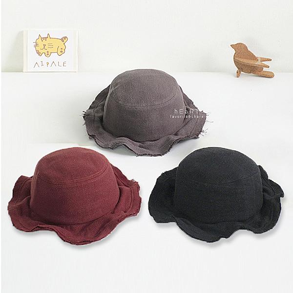 復古色寬沿漁夫帽 女童帽 男童帽 帽子 遮陽