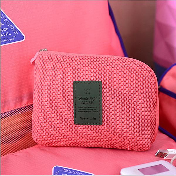 BO雜貨【SV6481】小號 防震旅行數碼收納包 防撞包 耳機 充電線  相機 手機收納 旅行整理包 化妝包