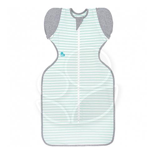 澳洲 Love To Dream SWADDLE UP 50/50 專利蝶型包巾(一般款) stage2 可拆式基本款-綠條紋(M/L)