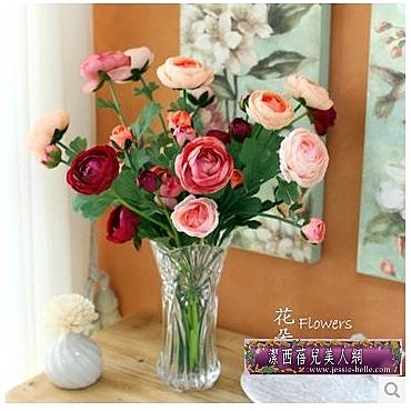 法國唯美玫瑰仿真花套裝 裝飾花客廳落地假花藝家居飾品-yuxim0019