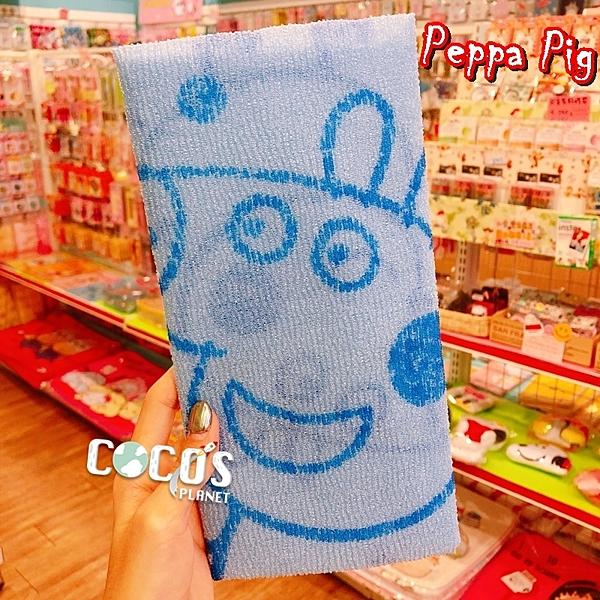 正版 佩佩豬 Peppa Pig 粉紅豬小妹 沐浴巾 洗澡巾 藍色款 COCOS TG045