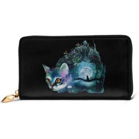水彩猫 レディース 財布 カワイイ 長財布 カード 本革 大容量 12枚 磁気防止 ギフトボックス付き