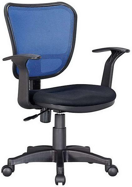 HP370-19 網背椅JS-06/三明治布+藍網布