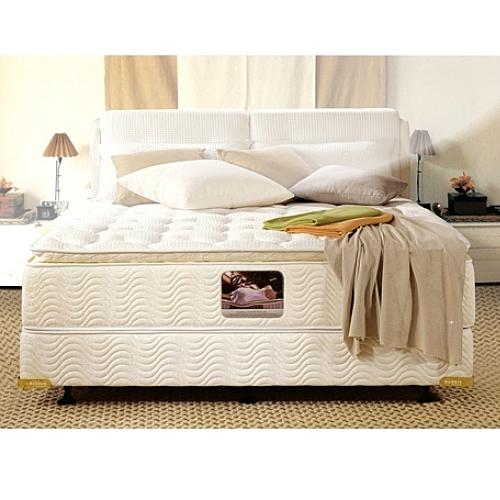 美國Orthomatic[Windsor Pillow Top]6x7尺King Size雙人特大獨立筒床墊+透氣掀床+床頭箱, 送床包式保潔墊