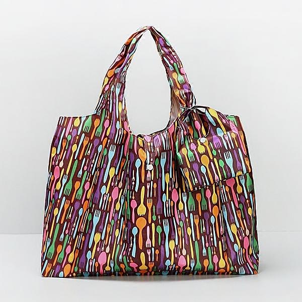 加厚超市購物袋防水環保袋折疊便攜袋女單肩包實用超大號 萬聖節鉅惠