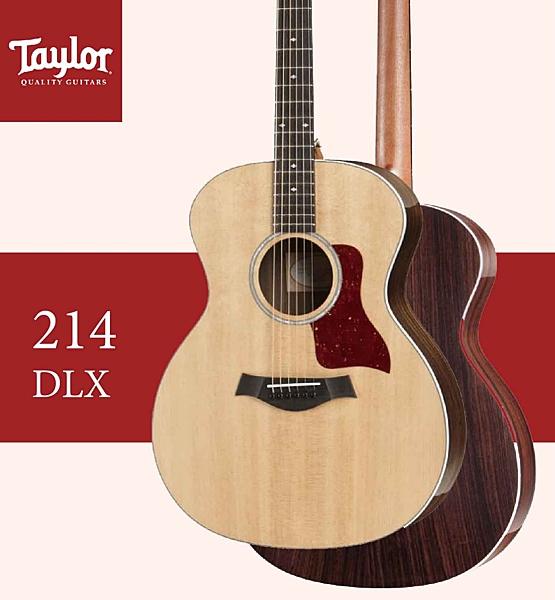 【非凡樂器】Taylor【214 DLX】木吉他/贈原廠背帶+超值配件包 / 公司貨保固