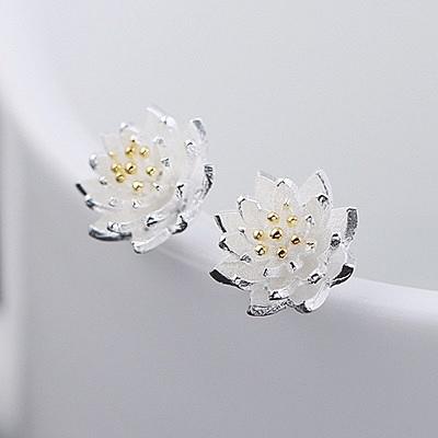 925純銀耳環(耳針式)-典雅時尚氣質生日情人節禮物女飾品73al75【巴黎精品】