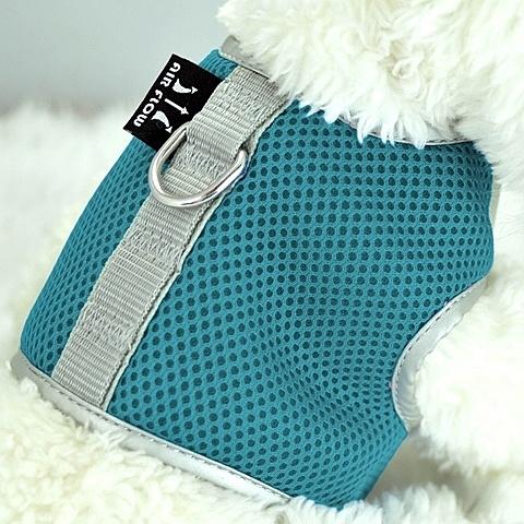 【寵物王國】瘋狂爪子-多層次立體網布護胸XS-水藍色