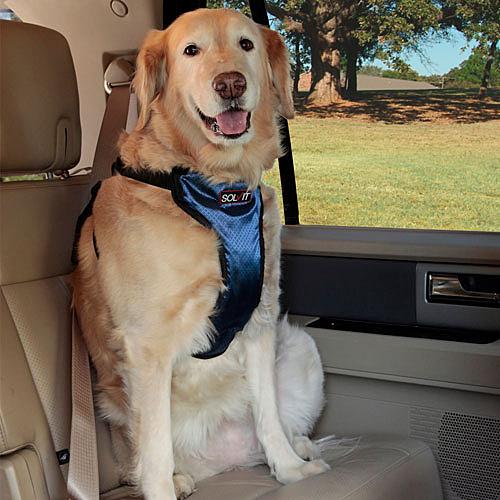 【寵物王國】美國SOLVIT寵物介護-豪華版寵物車用安全帶XL號
