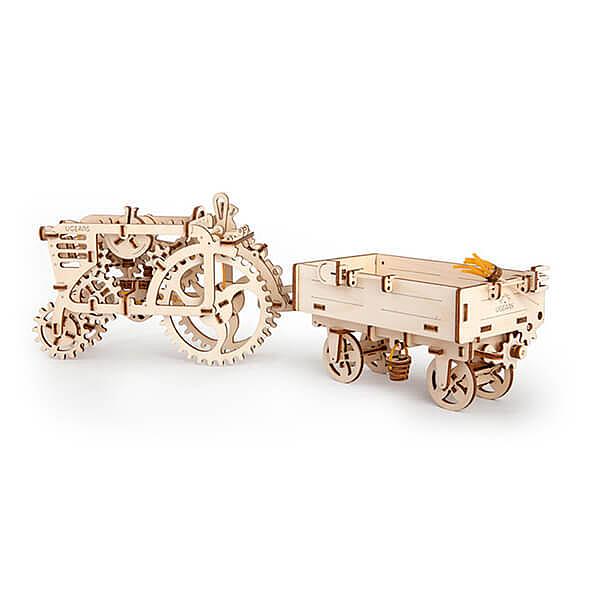 【海思】Ugears 自我推進模型 拖拉機配件-拖車