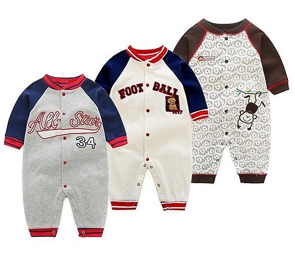 長袖兔裝 棒球猴子 純棉嬰兒連身裝 寶寶連身衣 XIS4454 好娃娃