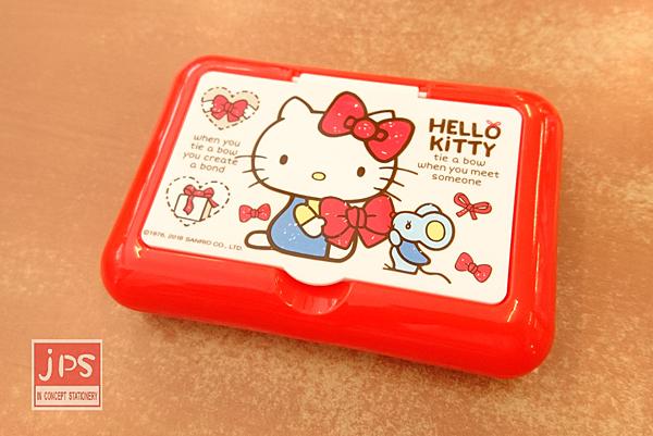 Hello Kitty 凱蒂貓 面紙盒 附鏡 紅 KRT-668074