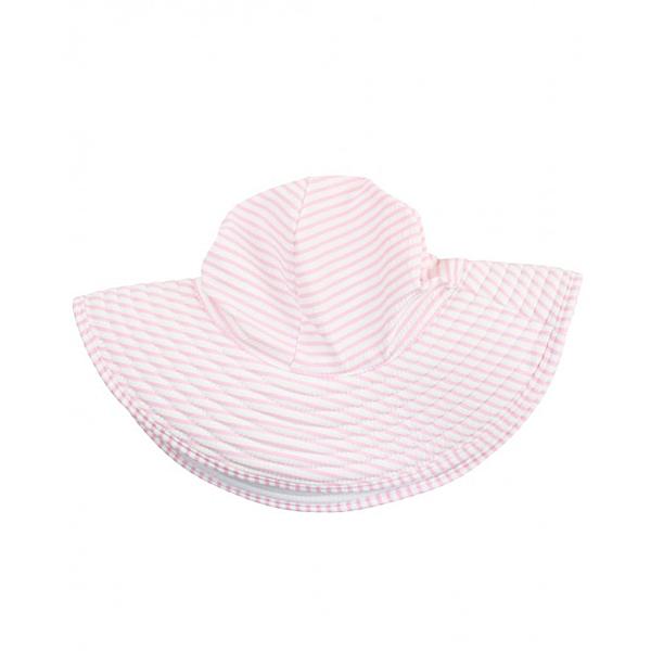 女寶寶漁夫帽 春夏遮陽防曬帽子 粉條紋   RuffleButts童裝 (嬰幼兒/小孩/兒童)