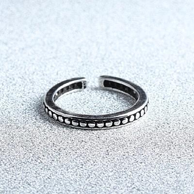 戒指 925純銀 圓點-百搭流行生日情人節禮物女開口戒73gp15【時尚巴黎】