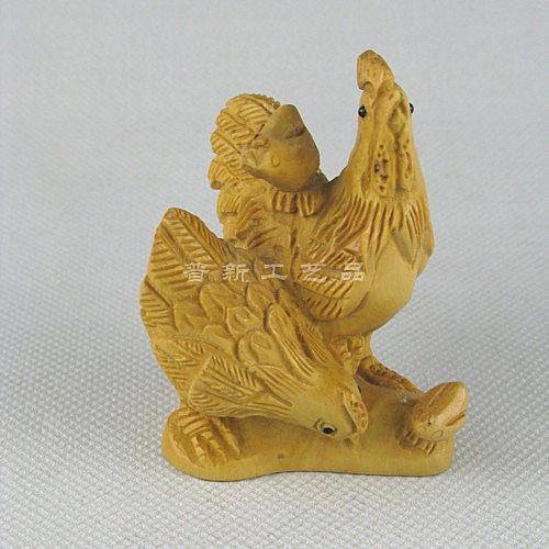 黃楊木雕 擺件/ 十二生肖羊掛件