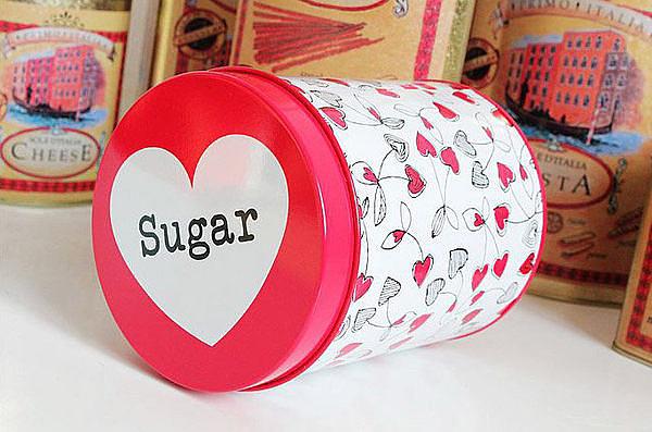 可愛粉白心形圖案糖果盒  3個/組