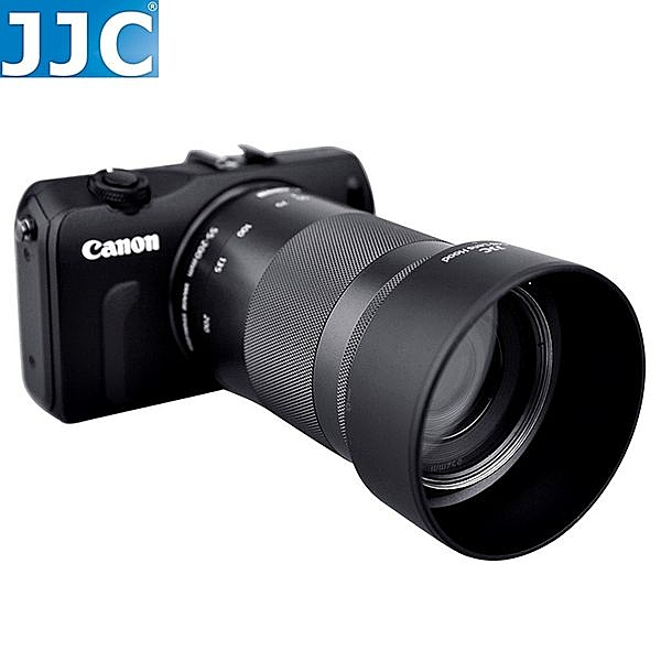 又敗家@JJC副廠Canon遮光罩ET-54B遮光罩可倒裝同Canon原廠遮光罩ET54B遮光罩EF-M 55-200mm f4.5-6.3 IS STM