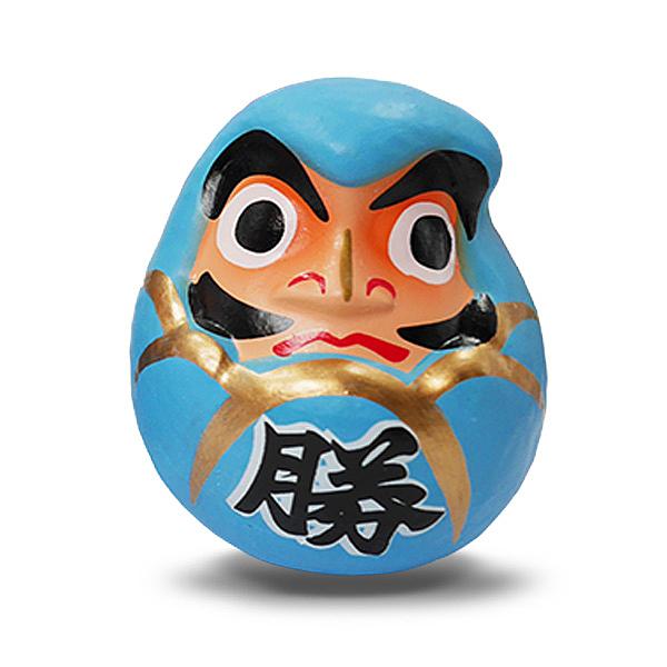 【金石工坊】必勝藍色達摩不倒翁(高6CM)風水開運擺飾
