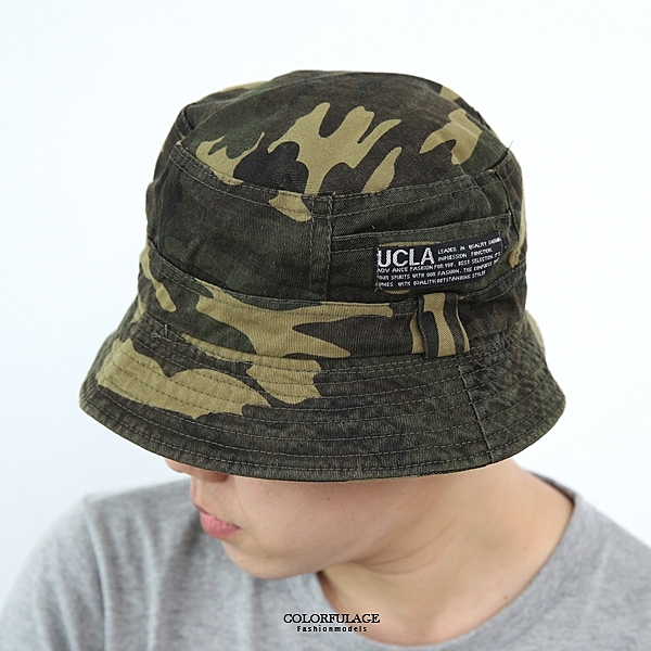 UCLA布標迷彩漁夫帽【NHD9】