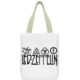 レッドツェッペリン LED ZEPPELINキャンバストートバッグジッパー大容量ポケットショッピングバッグレディースハンドバッグ