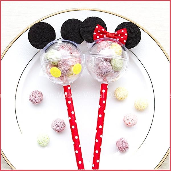 米奇米妮五彩球餅乾棒(單1支價,可選米奇或米妮)-情人節聖誕節 生日分享 婚禮小物 禮贈品