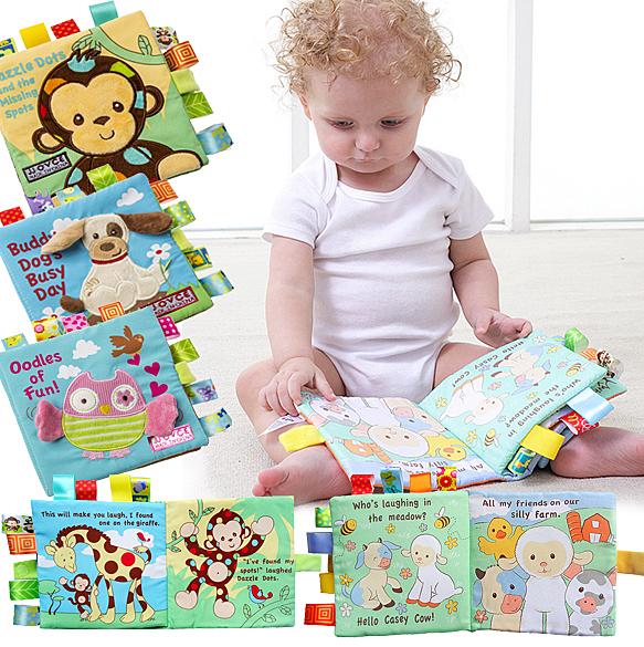 布書 嬰兒益智早教立體動物刺繡英文布書 B7Q002 AIB小舖