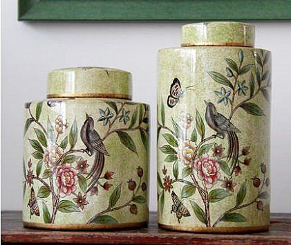 陶瓷裝飾罐 【小】
