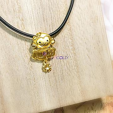 黃金墜飾-猴運連連-JP539