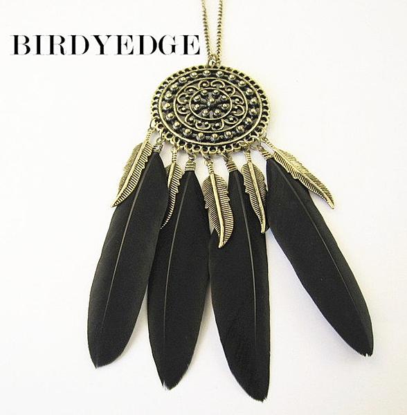【找到自己】真羽毛 項鍊 系列 古銅色