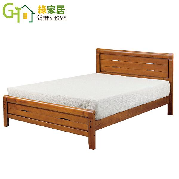 【綠家居】柏妮絲 柚木色3.5尺單人床台(不含床墊)