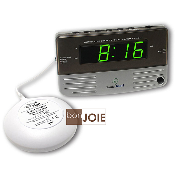 ::bonJOIE:: 美國進口 Sonic Alert SB200SS 震動鬧鐘 (含振動器) Bomb Boom 音波炸彈 鬧鈴 靜音 提醒器