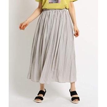(ザ ショップ ティーケー) THE SHOP TK ワッシャープリーツスカート 04076012 12(M) グレー(012)