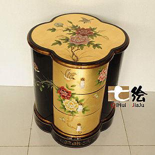 新古典中式田園漆器 手繪小櫃