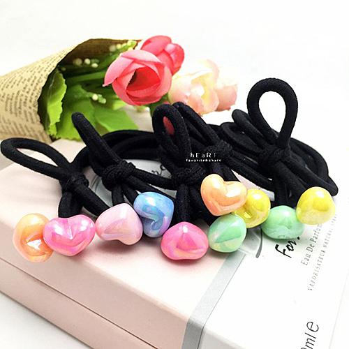彩珠糖果綁結髮圈 不挑色 兒童髮飾 彈性髮圈