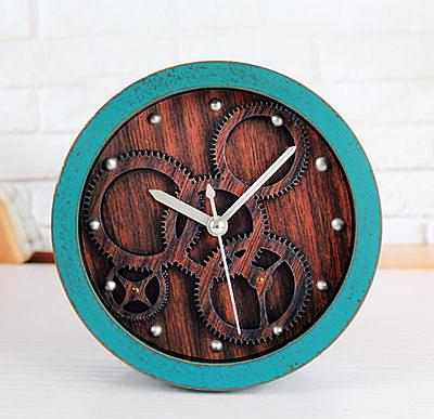 3D立體齒輪鬧鐘(綠色)