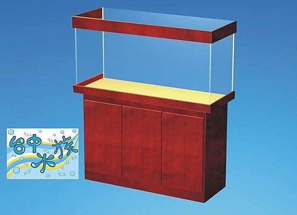 [ 台中水族 ] 經典 木心板貼皮一般三門缸底座架 4.2尺 ( 特訂品)--不含缸