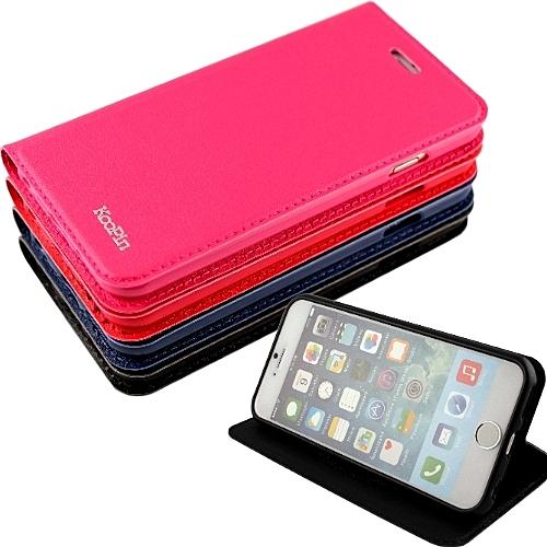 KooPin Apple iPhone 6 Plus (5.5吋) 隱磁系列 商務簡約可立式皮套◆贈送!防水防塵塞◆