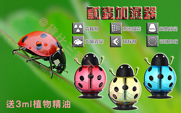 瓢蟲加濕器 USB 水氧機 蒸臉器 超聲波 靜音納米 芳香機 汽車 空氣淨化器 靜音 造霧器 濕度