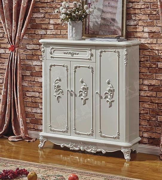 【大熊傢俱】Q 618 歐式鞋櫃 三門鞋櫃 置物櫃 儲物櫃 玄關櫃 收納櫃 法式 抽屜櫃 櫃子