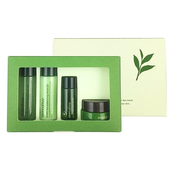 ●魅力十足● 韓國 Innisfree 綠茶精粹保濕 4件組
