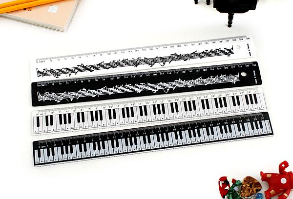 【小叮噹的店】台製 HA30 30公分尺 音樂造型尺/直尺 30cm